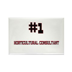 Number 1 HORTICULTURAL THERAPIST Rectangle Magnet