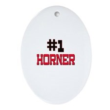 Number 1 HORNER Oval Ornament