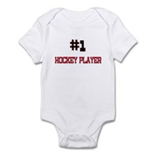 Number 1 HOCKEY PLAYER Infant Bodysuit