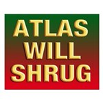 16x20 ATLAS WILL SHRUG Poster