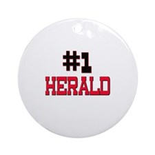 Number 1 HERALD Ornament (Round)