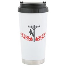 Lineman Flames Travel Mug