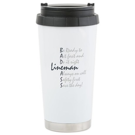 Bad ass Lineman Stainless Steel Travel Mug