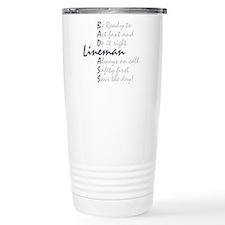 Bad ass Lineman Travel Mug