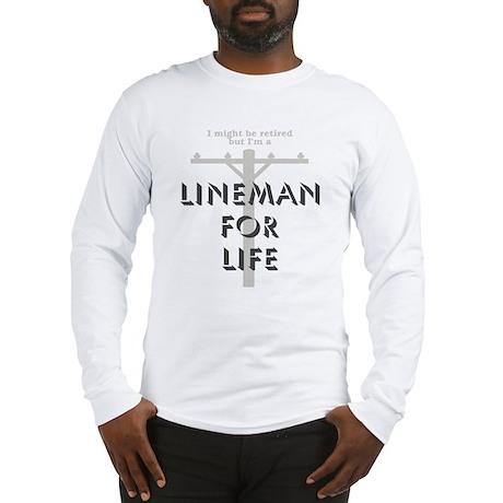Retired Lineman Long Sleeve T-Shirt