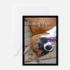 Thinking of you boxer Greeting Card
