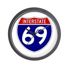 I-69 Wall Clock