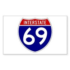 I-69 Rectangle Decal