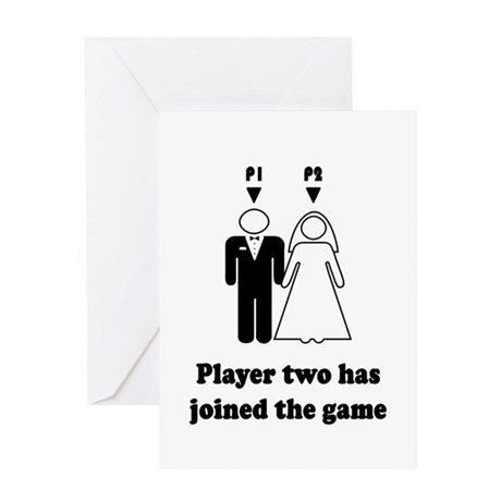 player2 black Greeting Cards