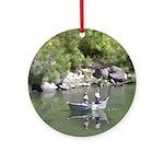 Drift Fishermen Rogue River Ornament (Round)
