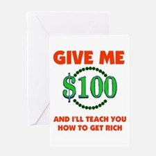 GET RICH QUICK Greeting Card
