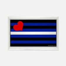 Leather Pride Flag Rectangle Magnet