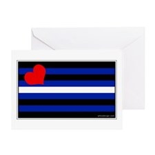 Leather Pride Flag Greeting Card