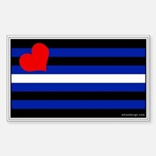 Leather Pride Flag Rectangle Decal