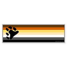 Bear Pride Flag Bumper Bumper Sticker