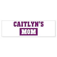 Caitlyns Mom Bumper Bumper Sticker