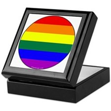 Round Pride Flag Keepsake Box