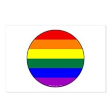 Round Pride Flag Postcards (Package of 8)