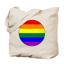 Round Pride Flag Tote Bag