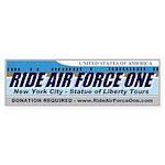 Ride Air Force One Bumper Sticker