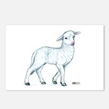 Little White Lamb Postcards (Package of 8)