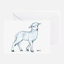Little White Lamb Greeting Card