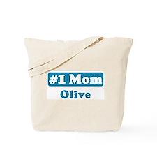 #1 Mom Olive Tote Bag
