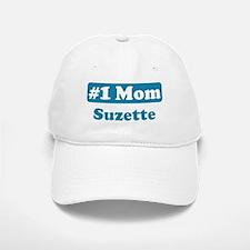 #1 Mom Suzette Baseball Baseball Cap