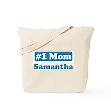 #1 Mom Samantha Tote Bag