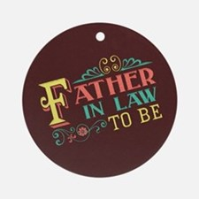 Pastel Father in Law Ornament (Round)