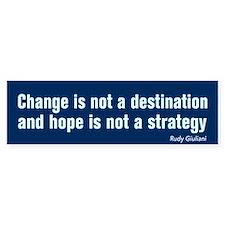 Change Is Not Destination AntiObama BumperBumper Sticker