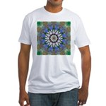 Blue Passion Flower I Fitted T-Shirt