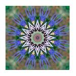 Blue Passion Flower I Tile Coaster