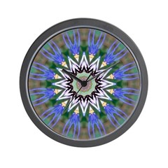 Blue Passion Flower I Wall Clock
