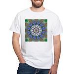 Blue Passion Flower I White T-Shirt