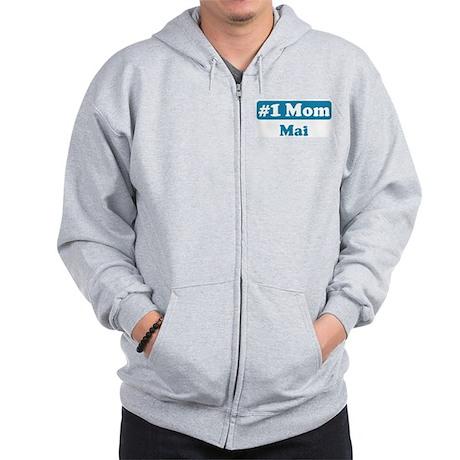 #1 Mom Mai Zip Hoodie