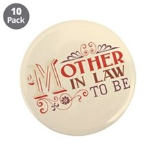 """Antique Mother in Law 3.5"""" Button (10 pack)"""