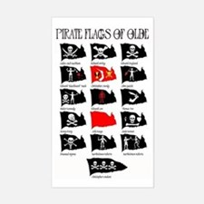 Pirate Flags- Jolly Roger Rectangle Decal