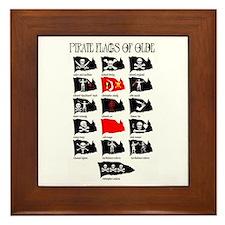 Pirate Flags- Jolly Roger Framed Tile