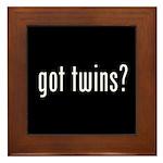 got twins? Framed Tile