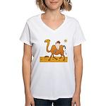 Funny Camel Women's V-Neck T-Shirt