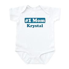 #1 Mom Krystal Infant Bodysuit