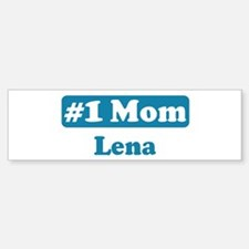 #1 Mom Lena Bumper Car Car Sticker