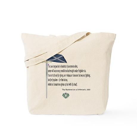 Declaration Of Arbroath Tote Bag