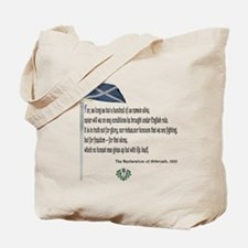 Declaration Of Arbroath Tote Bag