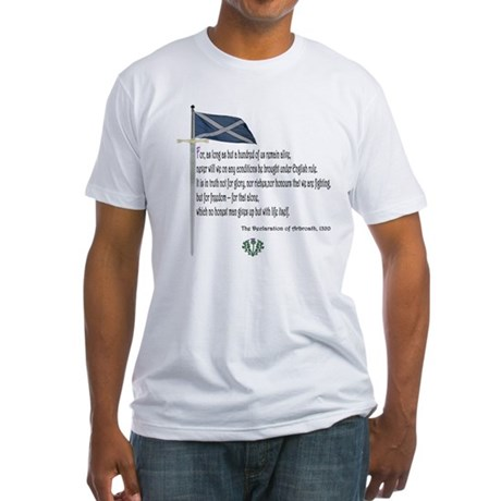 Declaration Of Arbroath Fitted T-Shirt