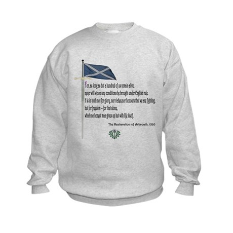 Declaration Of Arbroath Kids Sweatshirt