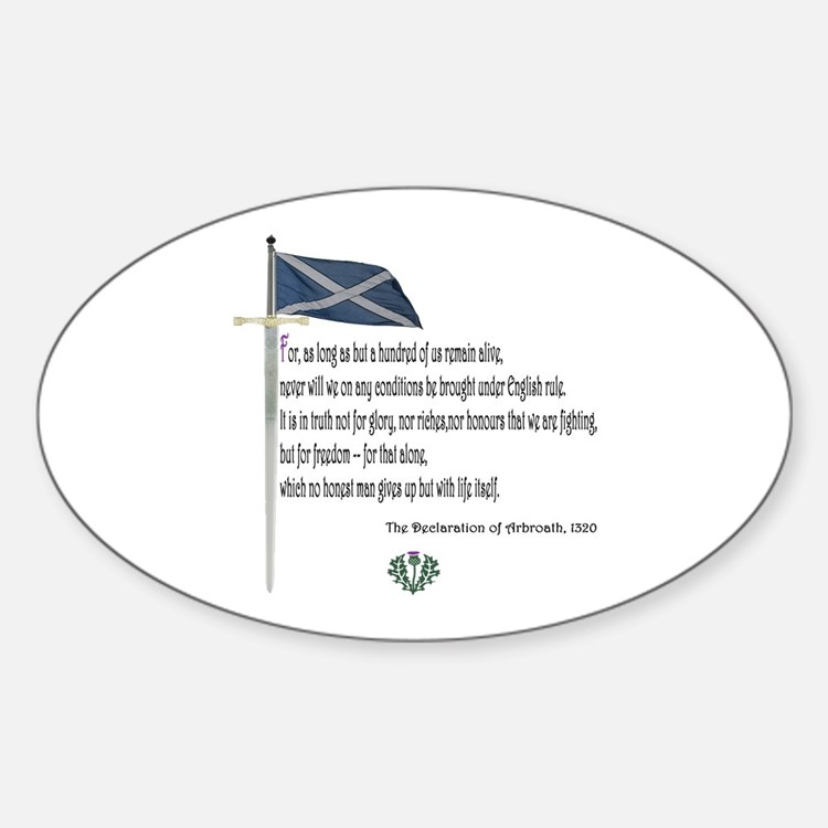 Declaration Of Arbroath Oval Decal