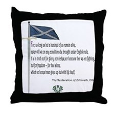 Declaration Of Arbroath Throw Pillow