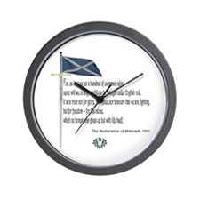 Declaration Of Arbroath Wall Clock